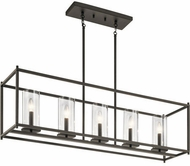 Kichler 43995OZ Crosby Contemporary Olde Bronze Kitchen Island Lighting