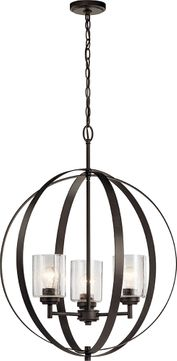 Kichler 44035OZ Winslow Contemporary Olde Bronze Pendant Lighting
