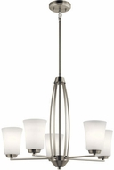Kichler 44051NI Tao Contemporary Brushed Nickel Chandelier Light