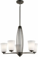 Kichler 44051OZ Tao Contemporary Olde Bronze Ceiling Chandelier