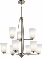 Kichler 44052NI Tao Contemporary Brushed Nickel Hanging Chandelier