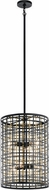 Kichler 44078BK Aldergate Modern Black Foyer Lighting