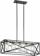 Kichler 44081BK Moorgate Contemporary Black Island Light Fixture