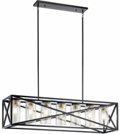 Kichler 44082BK Moorgate Contemporary Black Kitchen Island Light Fixture