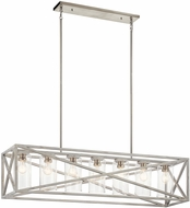 Kichler 44082DAW Moorgate Contemporary Distressed Antique White 48  Island Light Fixture