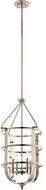 Kichler 44116PN Chatham Contemporary Polished Nickel Foyer Lighting Fixture