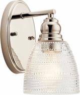 Kichler 44148PN Karmarie Contemporary Polished Nickel Lighting Sconce