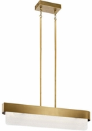 Kichler 44160NBRLED Serene Modern Natural Brass LED Kitchen Island Light