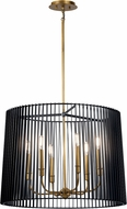 Kichler 44167BK Linara Modern Black Drum Hanging Light