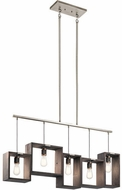 Kichler 44216CLP Industrial Frames Contemporary Classic Pewter Island Lighting