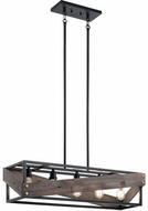 Kichler 44222BK Fulton Cross Modern Black Kitchen Island Lighting