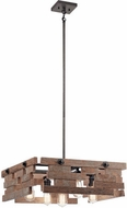 Kichler 44228AVI Cuyahoga Mill Modern Anvil Iron Drop Lighting Fixture