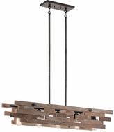 Kichler 44229AVI Cuyahoga Mill Contemporary Anvil Iron Kitchen Island Light