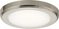 Kichler 44244NILED40 Zeo Contemporary Brushed Nickel LED 7  Ceiling Light Fixture