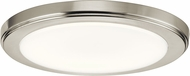 Kichler 44246NILED40 Zeo Contemporary Brushed Nickel LED 10  Flush Ceiling Light Fixture