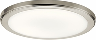 Kichler 44248NILED40 Zeo Contemporary Brushed Nickel LED 13 Ceiling Lighting Fixture