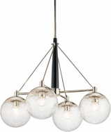 Kichler 44268PN Marilyn Modern Polished Nickel Lighting Chandelier