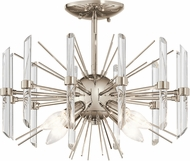 Kichler 44277PN Eris Polished Nickel Flush Ceiling Light Fixture