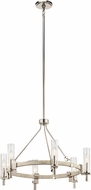 Kichler 44284WWW Telan Contemporary White Washed Wood Chandelier Light