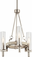 Kichler 44286WWW Telan Contemporary White Washed Wood Mini Chandelier Lighting