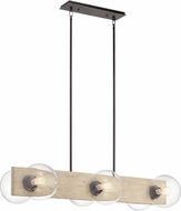 Kichler 44296WWW Marquee Modern White Washed Wood Kitchen Island Lighting