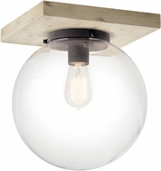 Kichler 44299WWW Marquee Contemporary White Washed Wood Ceiling Light