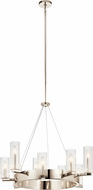 Kichler 44315PN Cleara Contemporary Polished Nickel Chandelier Lighting
