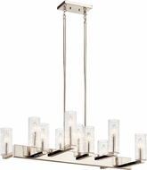 Kichler 44316PN Cleara Contemporary Polished Nickel Island Light Fixture