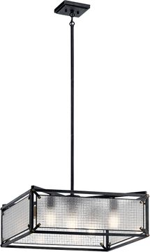 Kichler 44332DBK Steel Contemporary Distressed Black Pendant Hanging Light