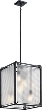Kichler 44334DBK Steel Contemporary Distressed Black Entryway Light Fixture