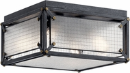 Kichler 44336DBK Steel Contemporary Distressed Black Flush Ceiling Light Fixture