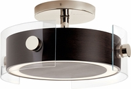 Kichler 44342WNWLED Tig Contemporary Walnut Wood LED Overhead Lighting