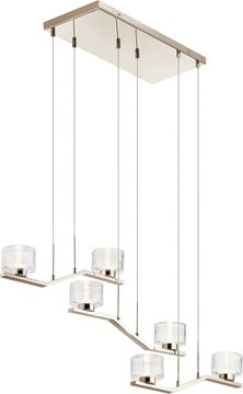 Kichler 44346PNLED Lasus Contemporary Polished Nickel LED Multi Drop Lighting