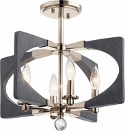 Kichler 44363DWG Alscar Modern Driftwood Grey Flush Mount Ceiling Light Fixture