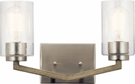 Kichler 45033DAG Deryn Contemporary Distressed Antique Gray 2-Light Bathroom Lighting