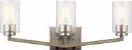 Kichler 45034DAG Deryn Modern Distressed Antique Gray 3-Light Lighting For Bathroom