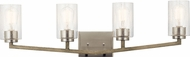 Kichler 45035DAG Deryn Contemporary Distressed Antique Gray 4-Light Bath Lighting