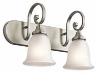 Kichler 45054NI Monroe Brushed Nickel 2 Lamp Bathroom Sconce - 18 Inches Wide