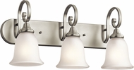 Kichler 45055NIL16 Monroe Brushed Nickel LED 3-Light Vanity Lighting Fixture