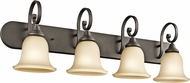 Kichler 45056OZL16 Monroe Olde Bronze LED 4-Light Bath Wall Sconce