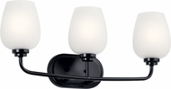 Kichler 45129BK Valserrano Modern Black 3-Light Vanity Lighting