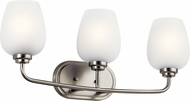 Kichler 45129NI Valserrano Contemporary Brushed Nickel 3-Light Vanity Light