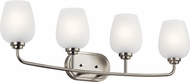 Kichler 45130NI Valserrano Contemporary Brushed Nickel 4-Light Bath Lighting Fixture