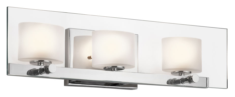 Kichler 45172CH Como 21 Inch Wide Modern 3 Lamp Bathroom Vanity Light. Loading zoom