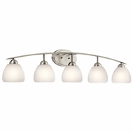 Kichler 45190NI Calleigh Brushed Nickel 5-Light Bathroom Light