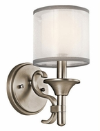 Kichler 45281AP Lacey Contemporary Antique Pewter Wall Sconce