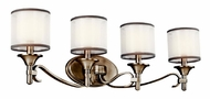 Kichler 45284AP Lacey 4-light Vanity in Antique Pewter