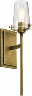 Kichler 45295NBR Alton Contemporary Natural Brass Wall Lamp