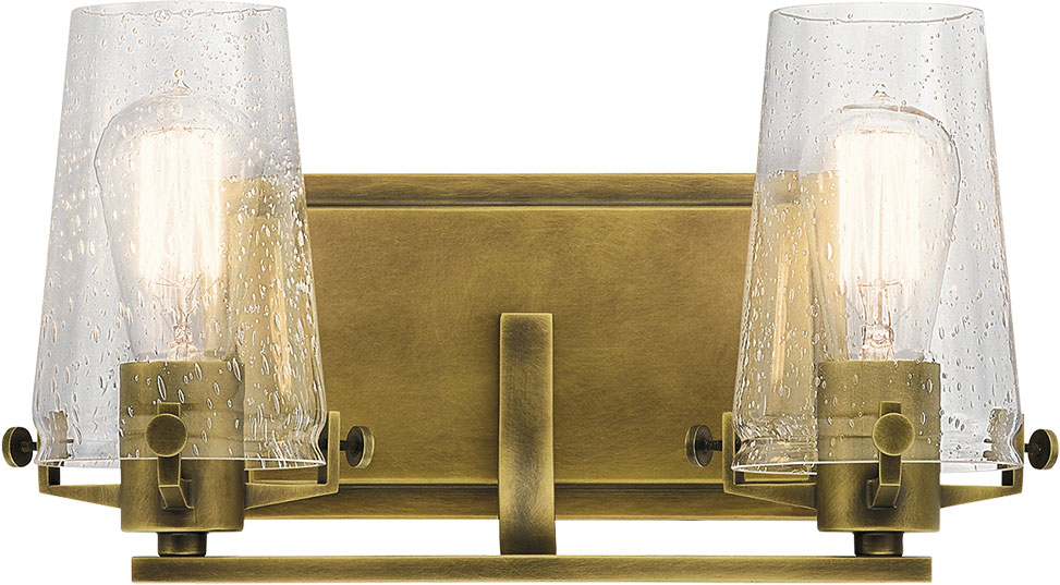 Kichler 45296NBR Alton Contemporary Natural Brass 2-Light Bath ...