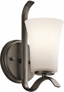 Kichler 45374OZL16 Armida Contemporary Olde Bronze LED Wall Sconce Lighting